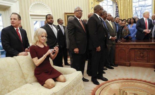 Cum a fost surprinsă blonda lui Donald Trump