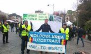Lanț uman pentru Autostrada Târgu Mureș-Iași