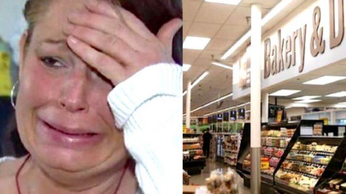Mama a trei copii a fost prinsă furând mâncare