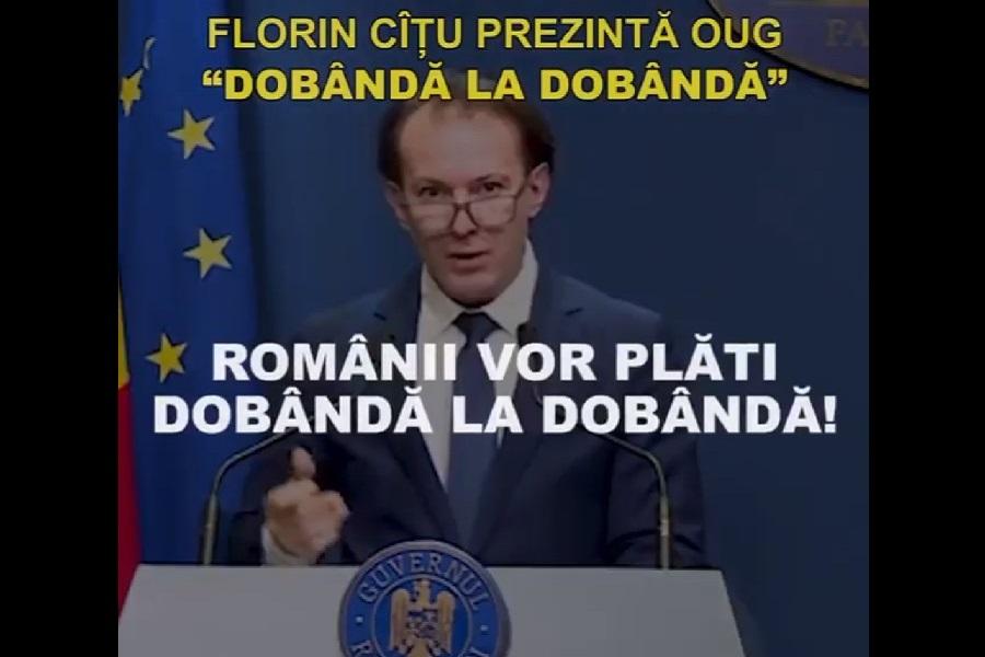 """Ordonanța Cîțu îi calcă în picioare pe românii cu credite. PSD: """"O vom corecta în Parlament"""""""
