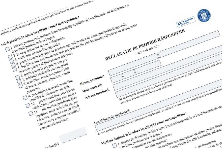 S-a schimbat modificarea: Noua DECLARAȚIE a primit o completare