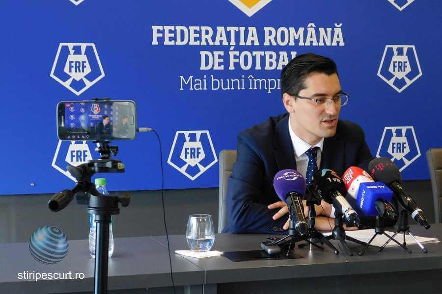Răzvan Burleanu președintele Federației Române de Fotbal