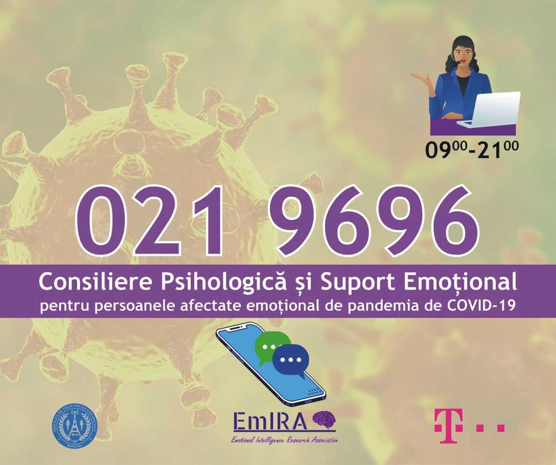 Asistență psihologică pentru persoanele afectate de pandemie, gratuit, prin telefon