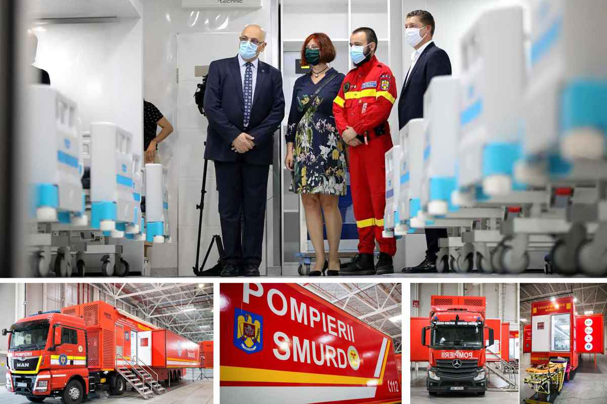 Galerie FOTO - Patru unități de terapie intensivă mobilă, recepționate de DSU. Pot ajunge oriunde în țară