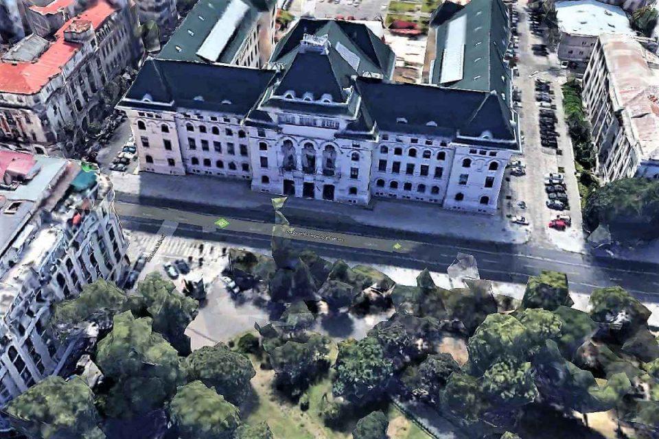 Prim[ria Capitalei - captură video Google Earth