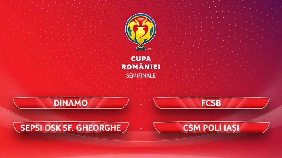 Semifinale Cupa României la fotbal - Avem derby de România. Tragerea la sorți