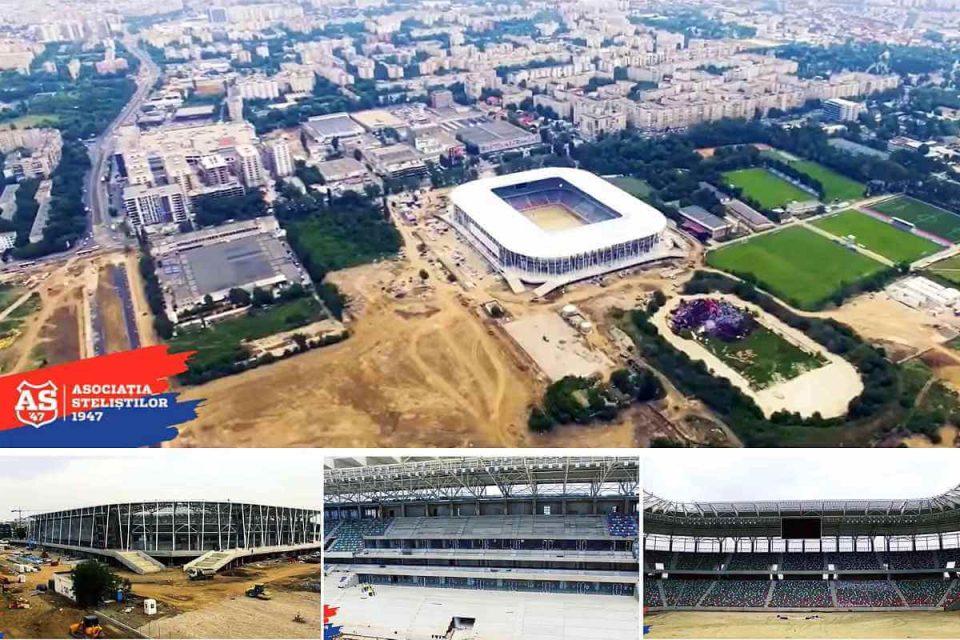 Stadionul Steaua - noi imagini cu arena, din dronă. foto: capturi video Asociația Steliștilor 1947