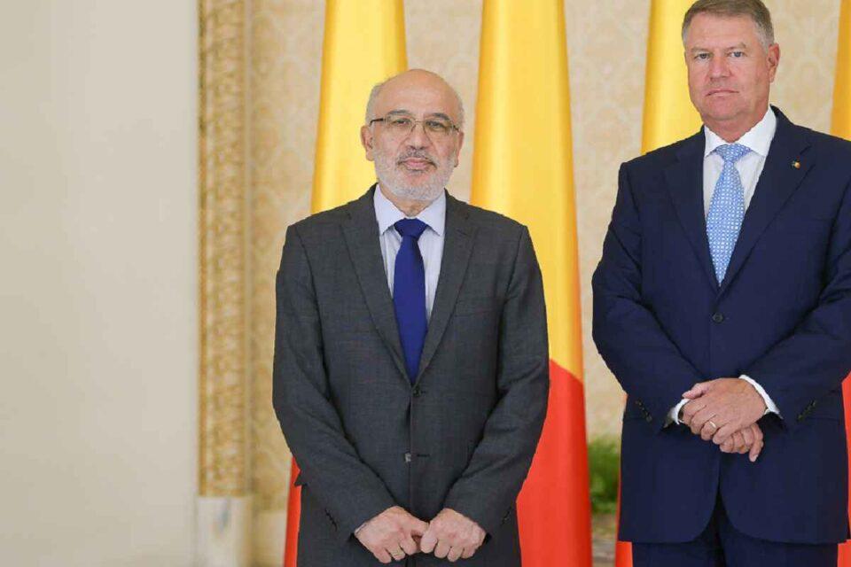 Filippos Kritiotis, ambasadorul Ciprului în România, în ziua prezentării scrisorilor de acreditare președintelui Klaus Iohannis