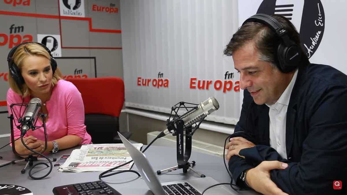 Alexandre Eram și Andreea Esca la Europa FM. foto: captură video youtube
