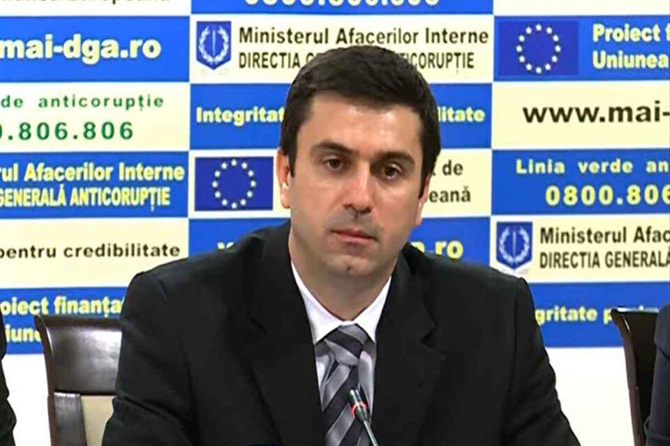 Cătălin Ioniţă a fost eliberat din funcţia de director general al Direcţiei Generale Anticorupţie din MAI.