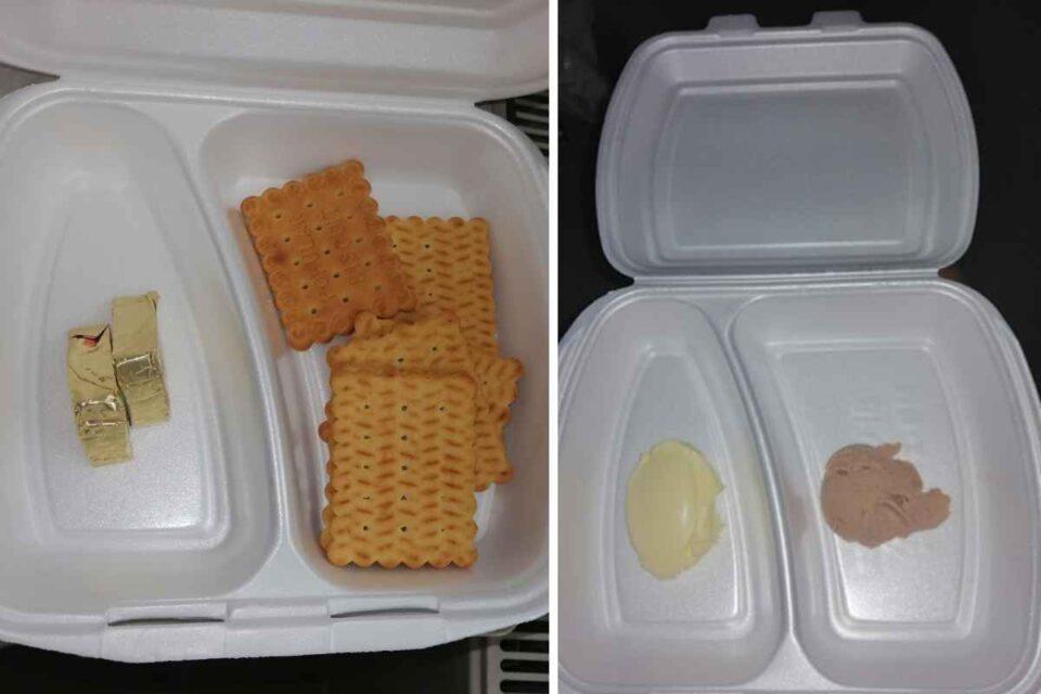 Cinci biscuiți și două triunghiuri de brânză topită, micul dejun în maternitatea Sibiu. Cina e și mai rea