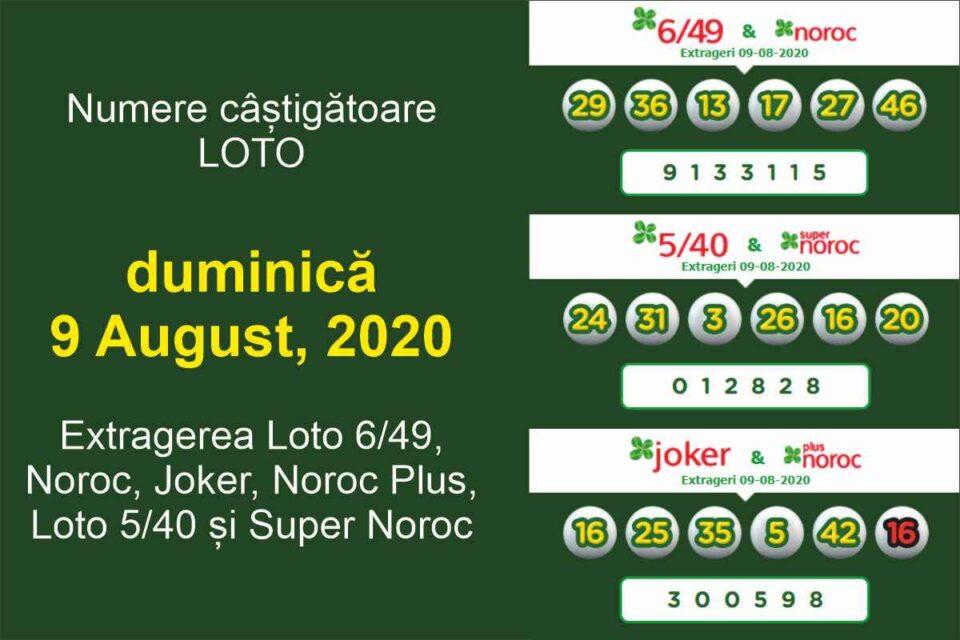 Premiul categoriei I la Loto 6/49, de peste 3,6 milioane ... |Loto 6/49 9 August 2020
