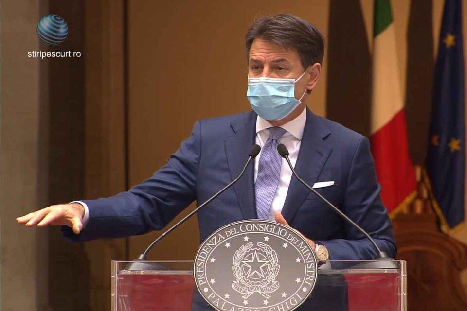Giuseppe Conte: Semi-izolare pentru o lună. Italia înăspreşte restricţiile după un număr record de noi infecţii
