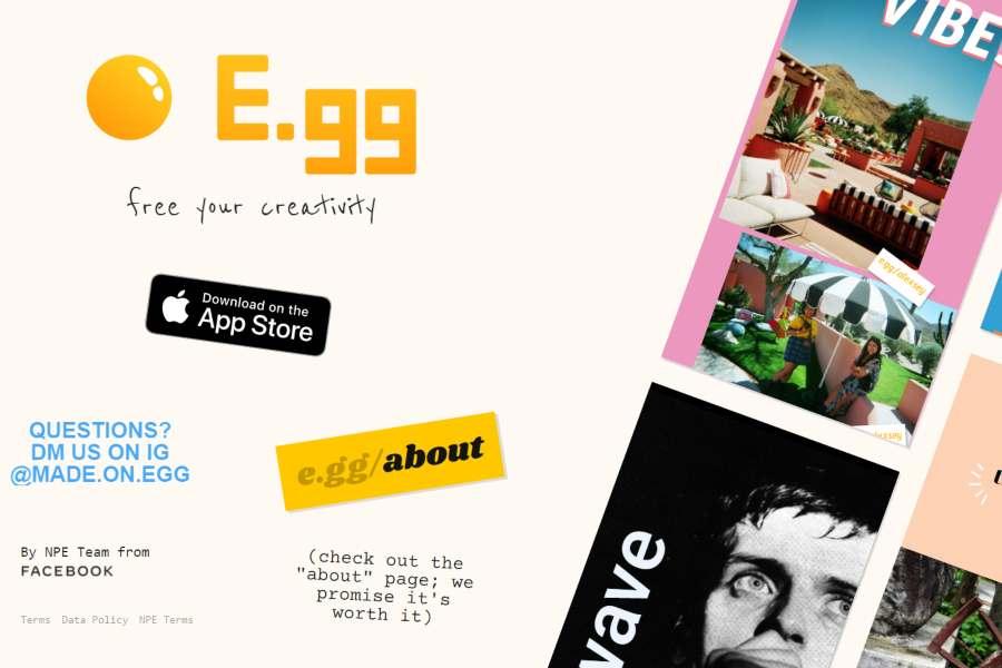 E.gg - Facebook lansează o aplicaţie de colaje