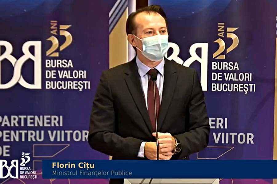 Bursa de Valori București, aniversare 25 de ani. Promisiunile ministrului Florin Cîțu
