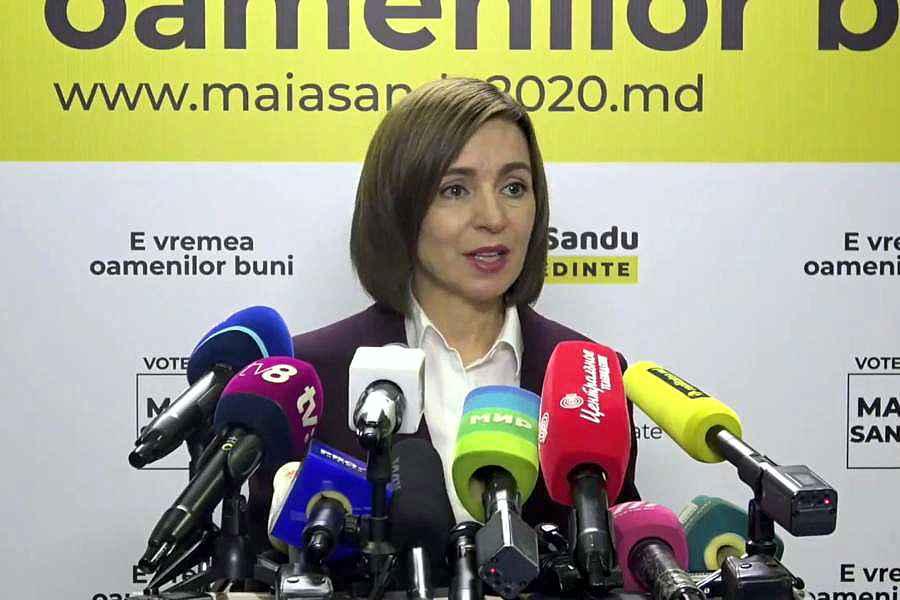 Maia Sandu este prima femeie preşedintă a Republicii Moldova