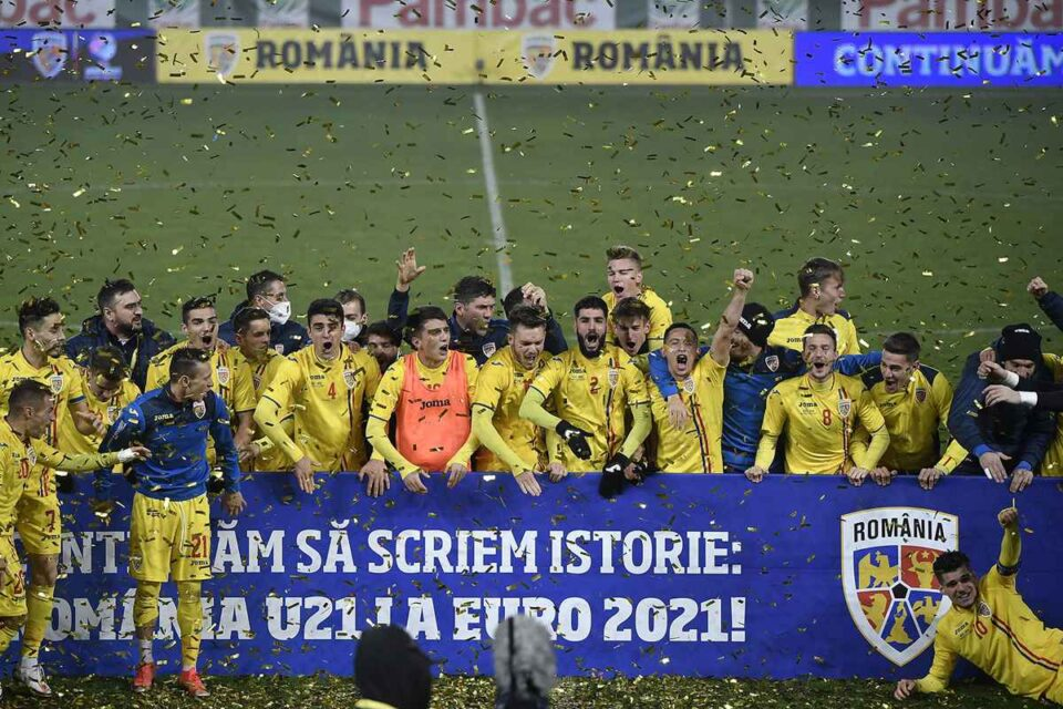Naționala României U21 la CE. foto: FRF