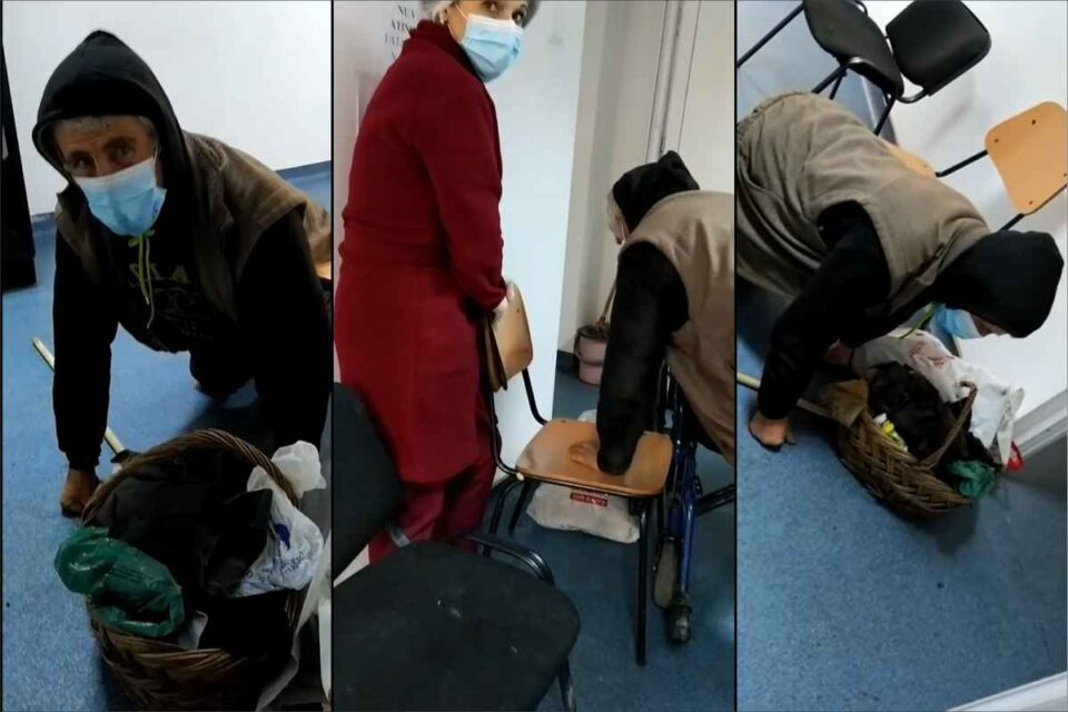 Un bătrân a căzut pe holul unui spital şi a cerut ajutor trei ore. Infirmierele l-au ignorat
