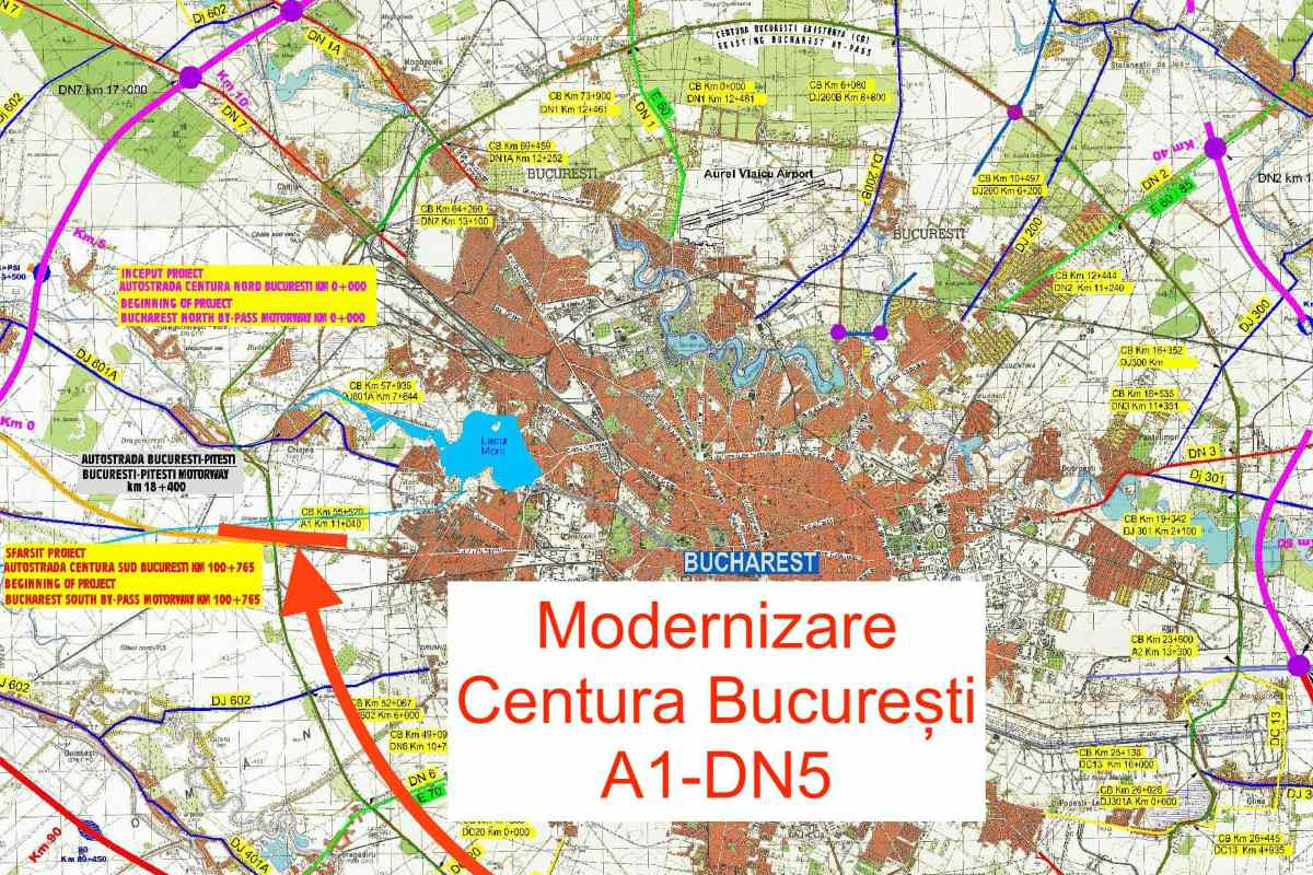 Drulă anunță lansarea licitației pentru lărgirea la 4 benzi a Centurii Bucureşti