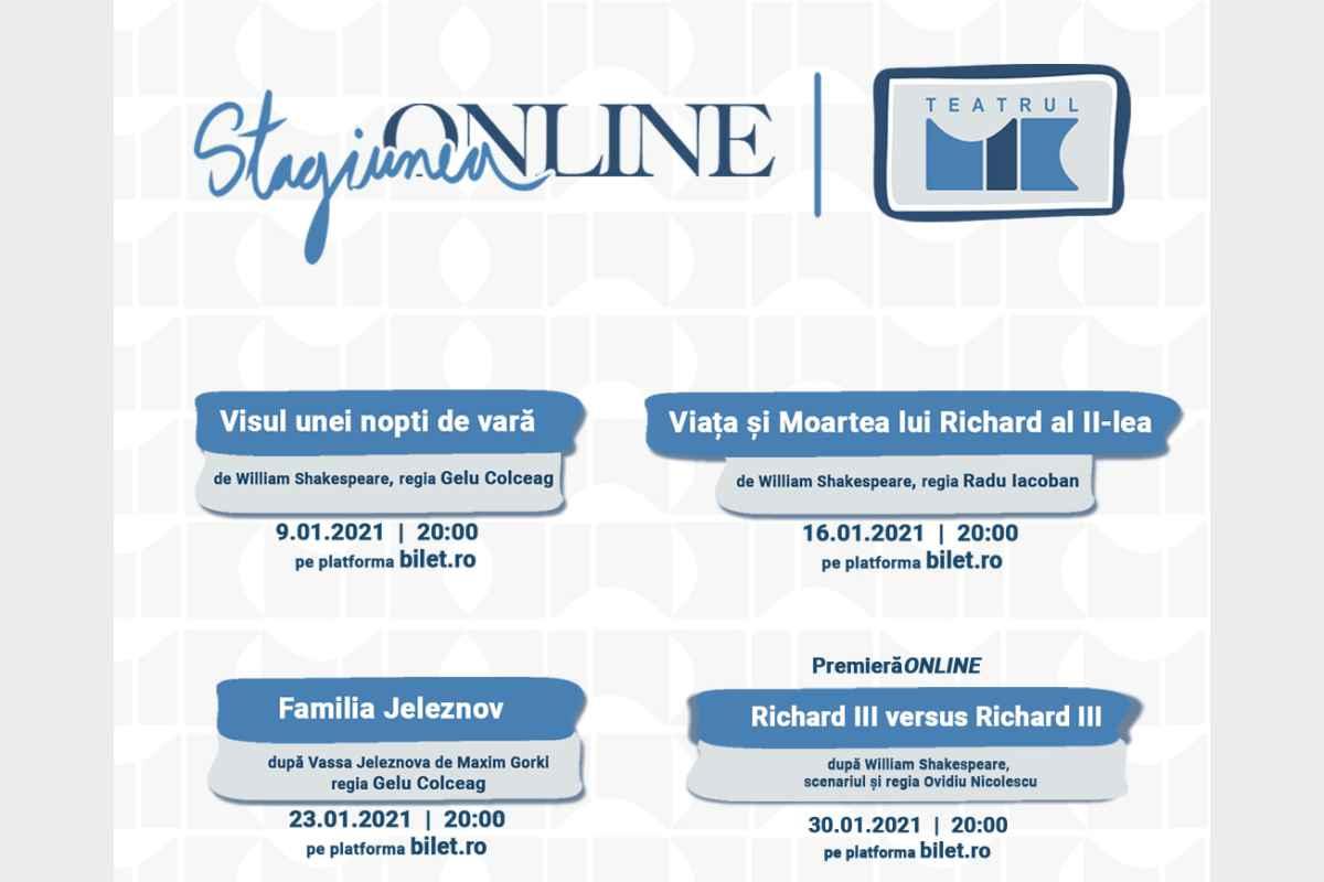 Programul online al Teatrului Mic continuă şi în luna ianuarie