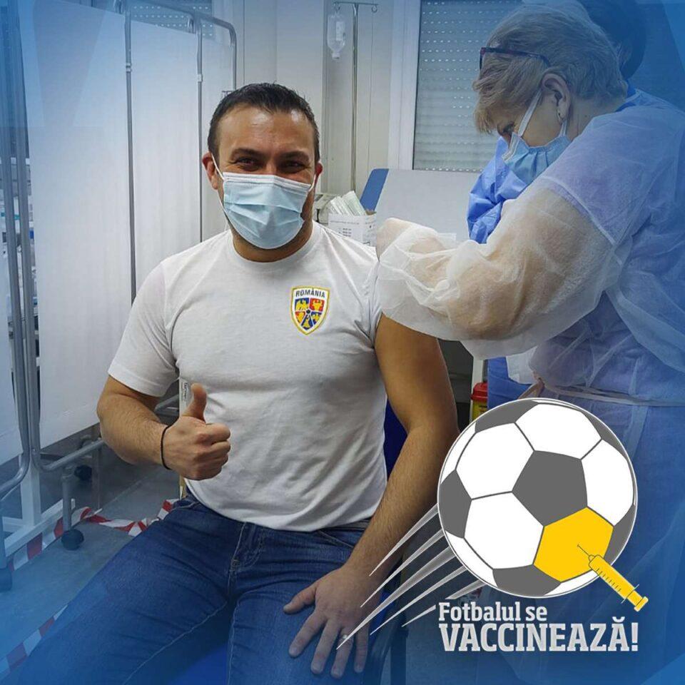 FRF a demarat campania de imunizare a jucătorilor loturilor naţionale. foto: FRF