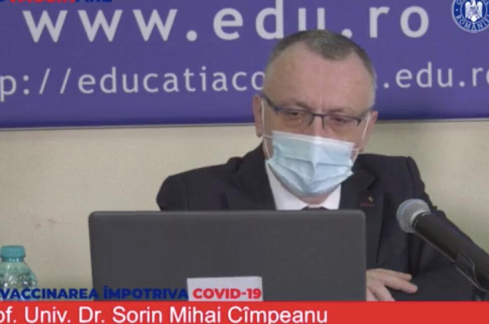 Sorin Cîmpeanu explică scenariile școlii online și face un anunț-bombă: 190000 de copii nu au învățat să scrie