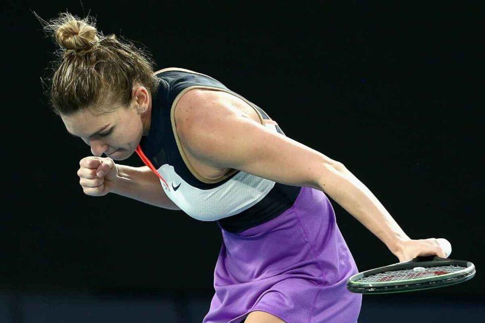 Simona Halep - Lizette Cabrera rezultat Australian Open în primul meci. foto: @AustralianOpen - Facebook