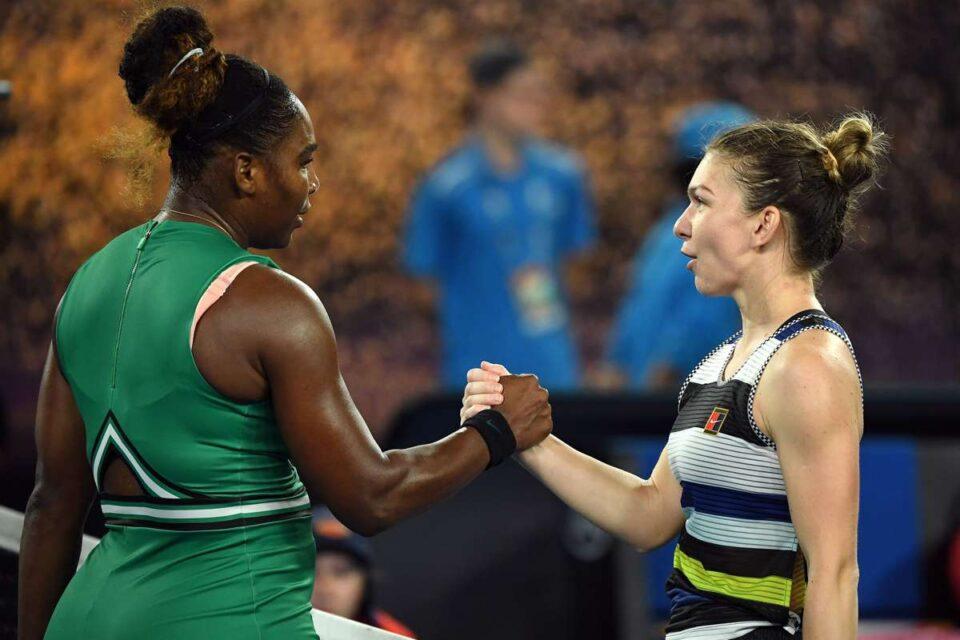 Simona Halep și Serena Williams. foto: @AustralianOpen, Twitter