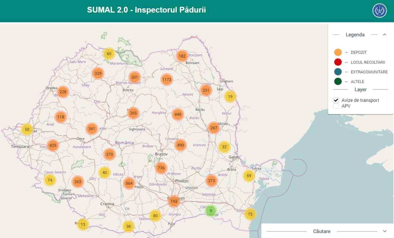 SUMAL 2.0 - A fost lansată noua versiune a aplicaţiei Inspectorul Pădurii