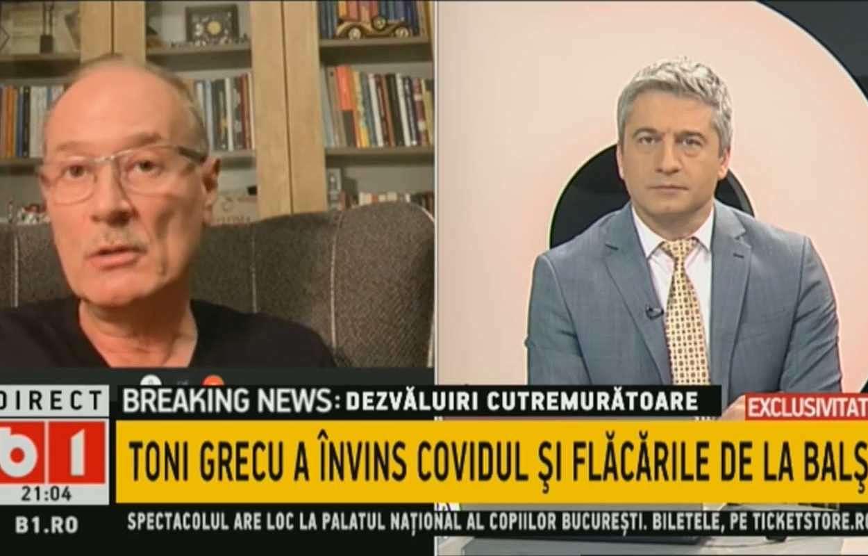 Toni Grecu a scăpat de Covid-19, a scăpat din incendiul de la Balș și are un mesaj pentru cei care nu cred în existența coronavirusului