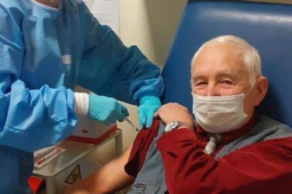 Veteran de război, vaccinat anti-COVID, la 91 de ani