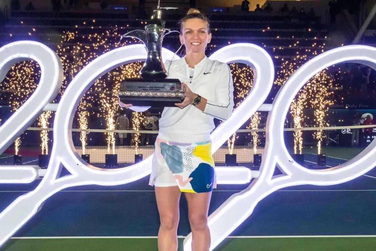 Simona Halep câștigătoare la Dubai 2020