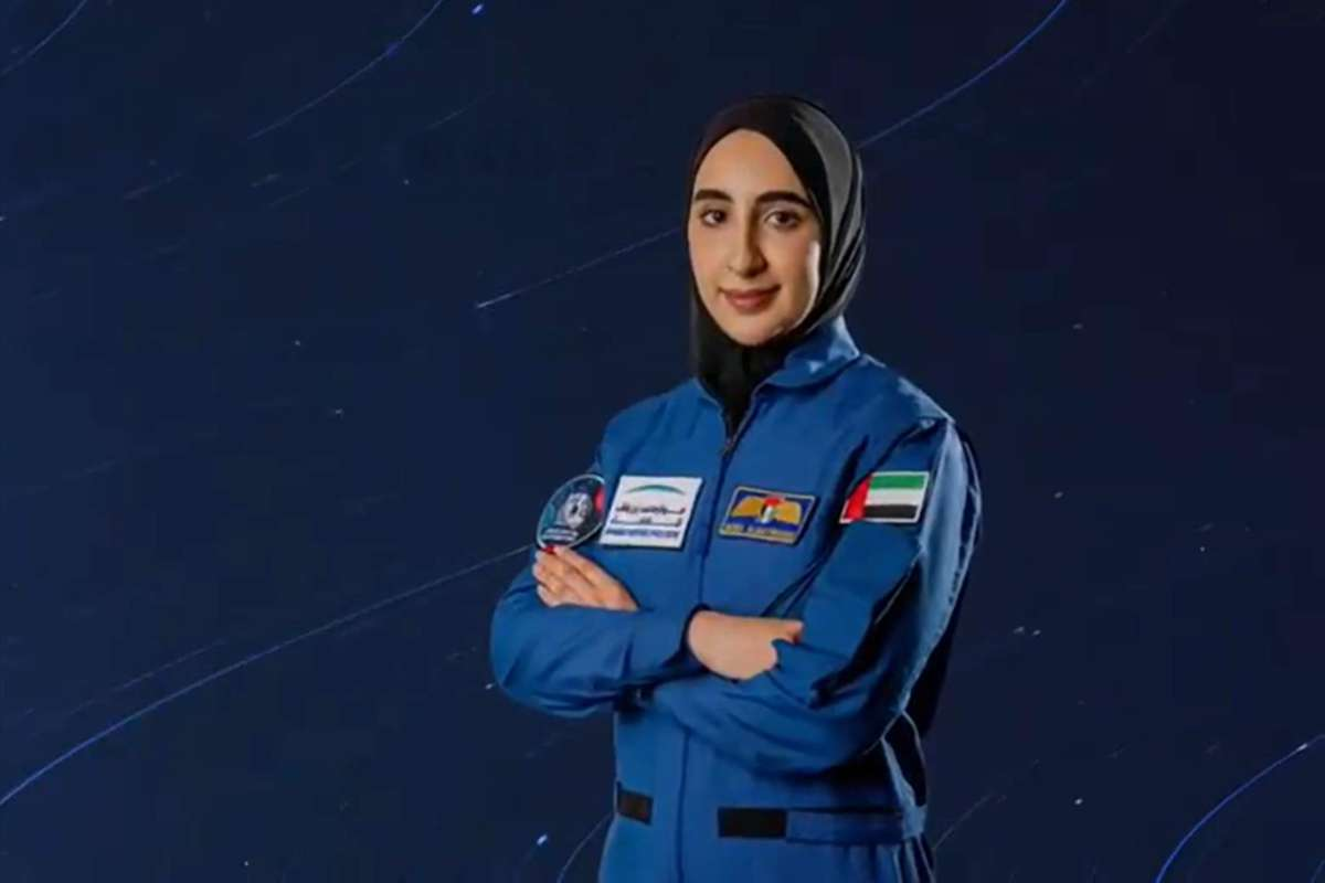 Nora Al-Matrooshi, prima femeie astronaut din Emiratele Arabe Unite. foto: captura video: MBR Space Centre