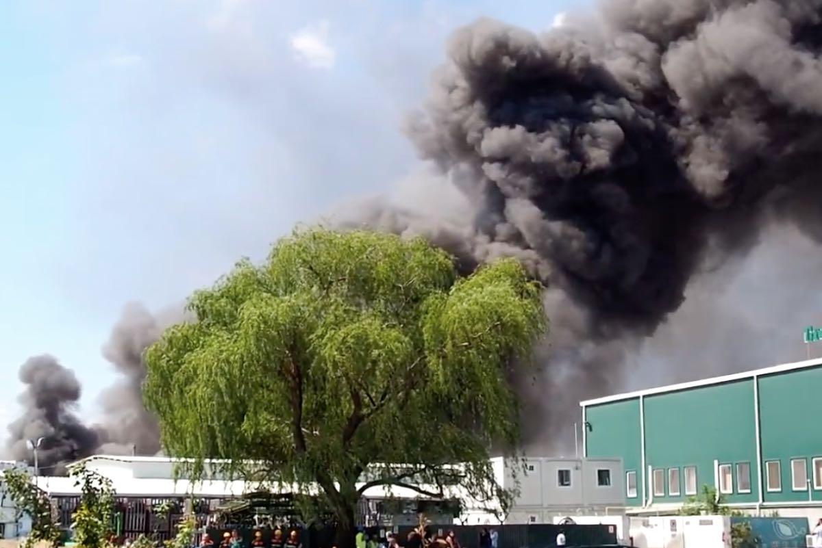 Incendiul de ieri, de la Frasinu, din Buzău, încă nu a fost stins