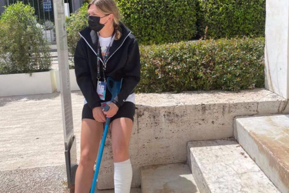 Halep a făcut RMN la Roma: Am o mică ruptură la gamba stângă