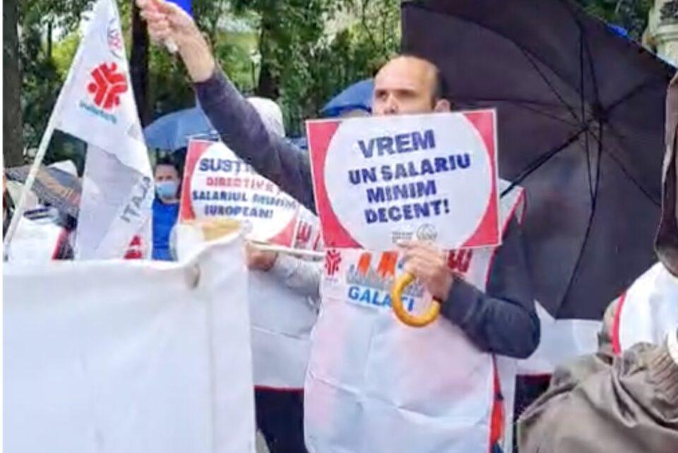 Sindicaliștii Cartel ALFA protestează la Cotroceni și ce punerea a angajamentelor asumate la nivelul UE