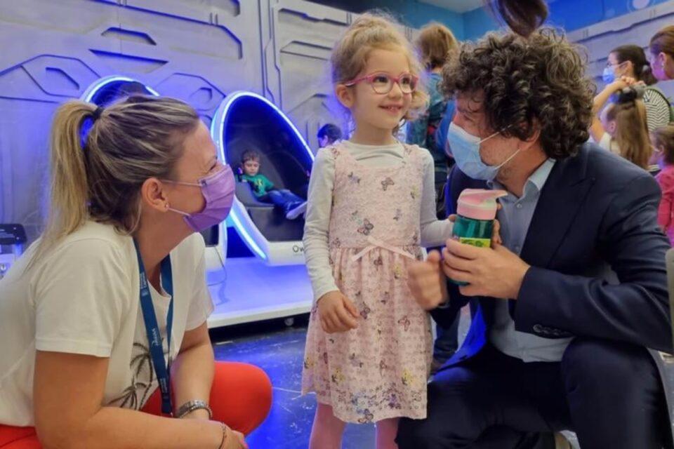 Nicuşor Dan, de 1 iunie, cu fiica sa la inaugurarea Hub-ului din Afi Cotroceni