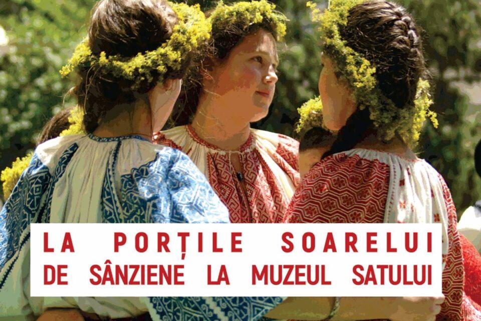 Sânzienele, la Muzeul Satului: Ateliere, tradiții și obiceiuri. Vizitatorii care poartă cămașă tradițională românească au acces gratuit