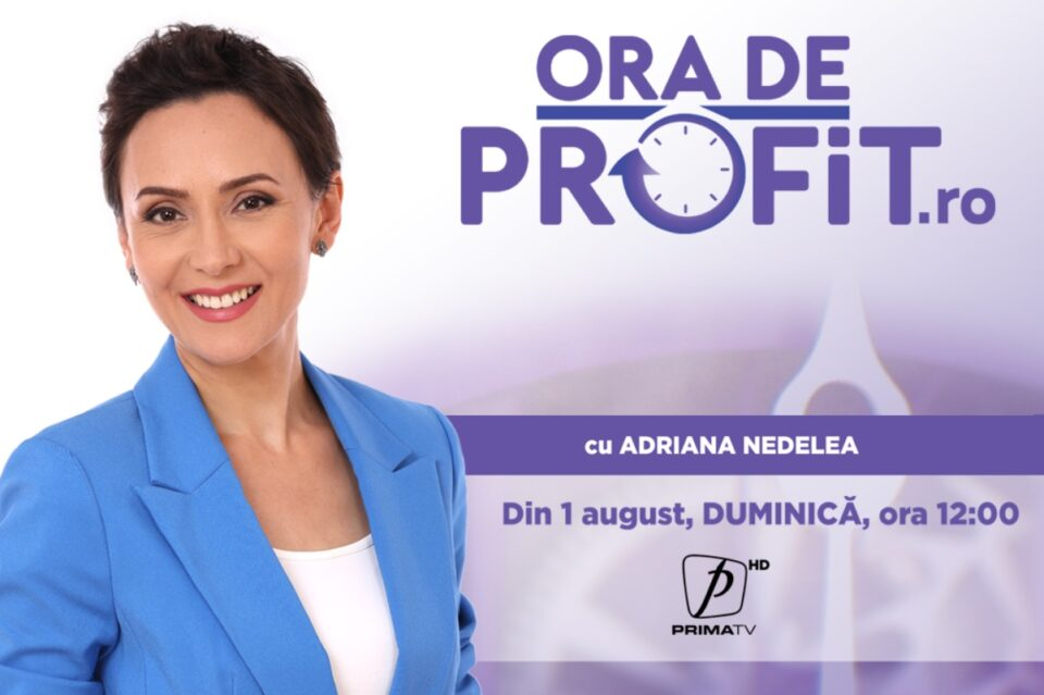 De duminică, la Prima TV, emisiune economică prezentată de Adriana Nedelea. Ministrul Claudiu Năsui, primul invitat