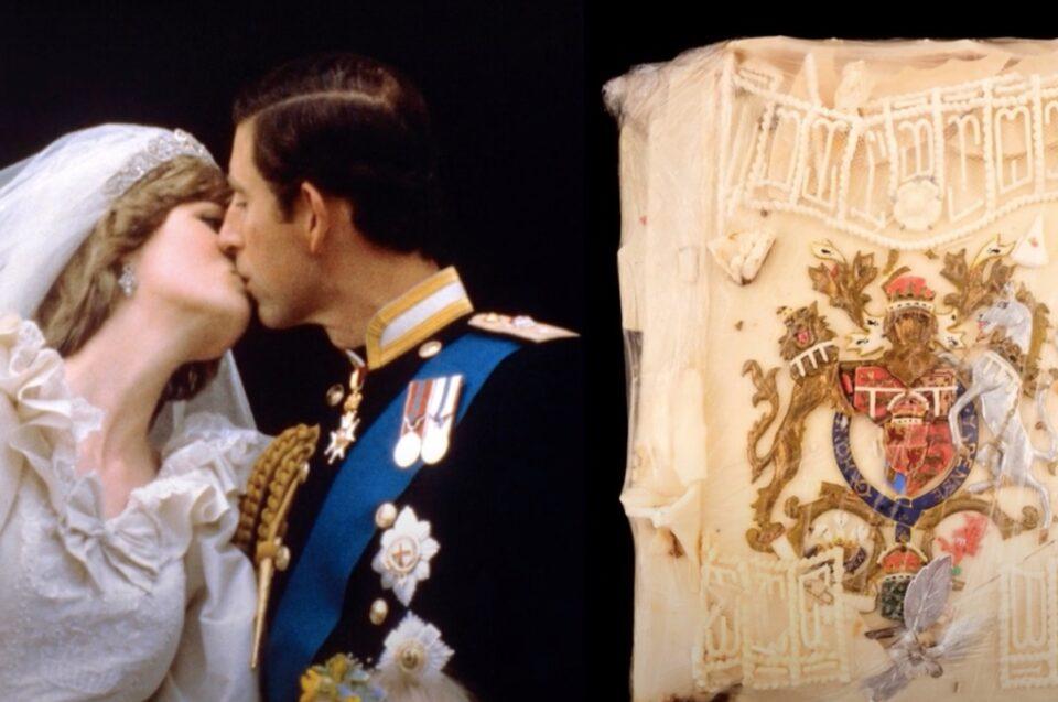 O felie de tort, veche de 40 de ani, de la nunta Dianei cu Prințul Charles, scoasă la licitație