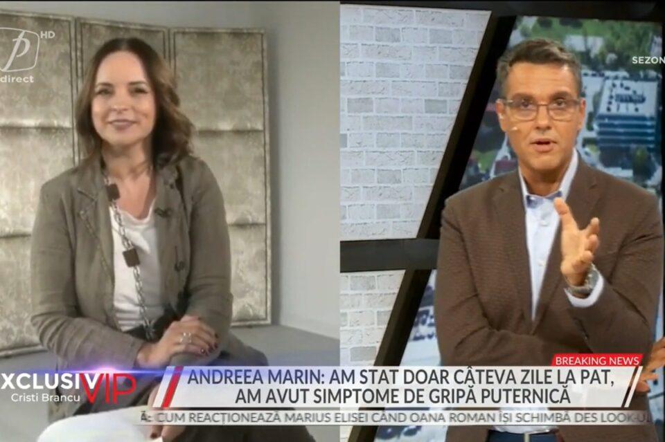 Andreea Marin, infectată cu COVID, a trecut cu bine prin boală